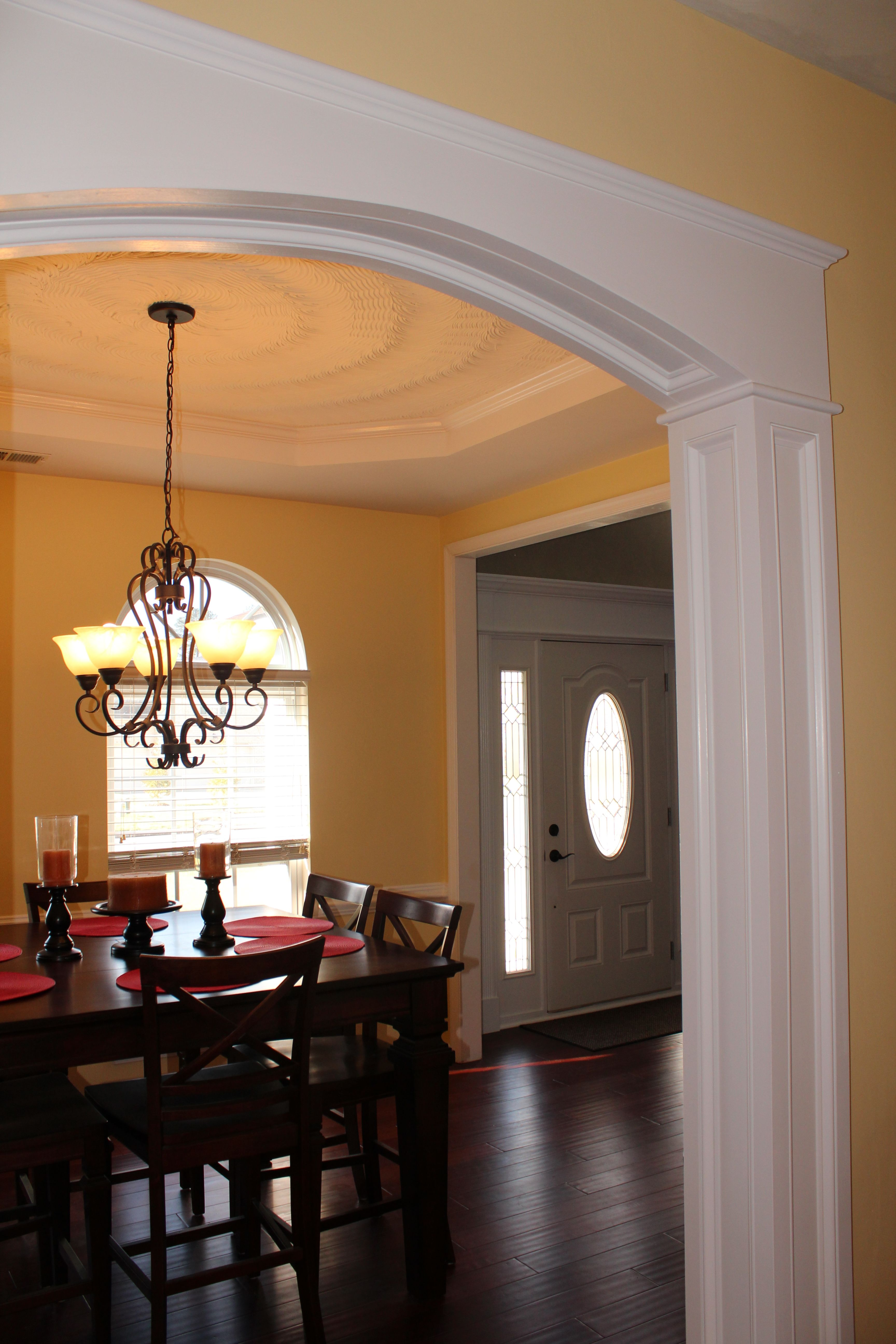Archway Ideas Interior Arch Molding Between My Kitchen And Dining Room With Crown