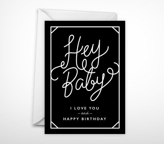 Modern Birthday Card By Paperowlstationery Husband Birthday