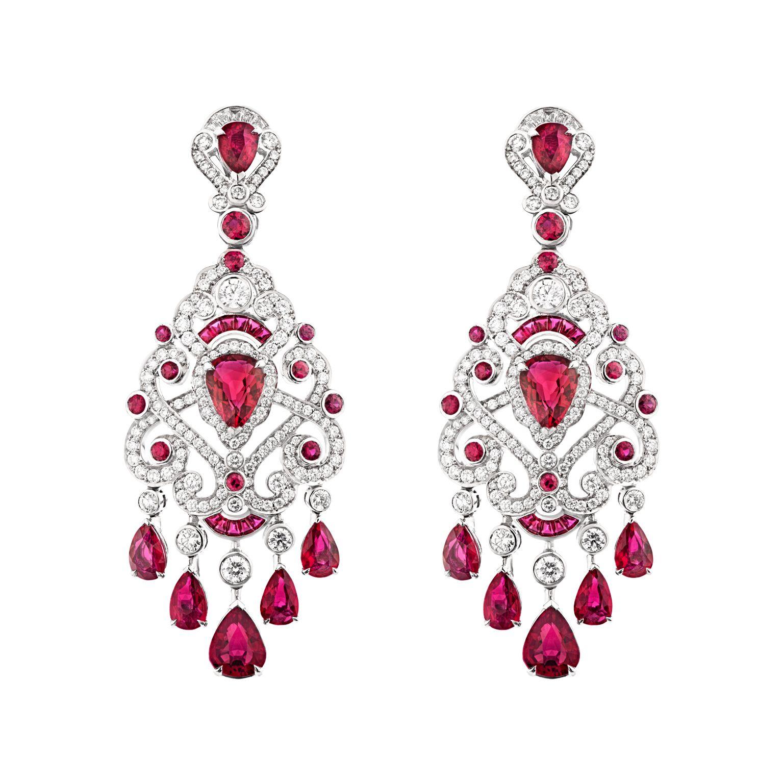 Fabergé Regalia Ruby Earrings Diamond