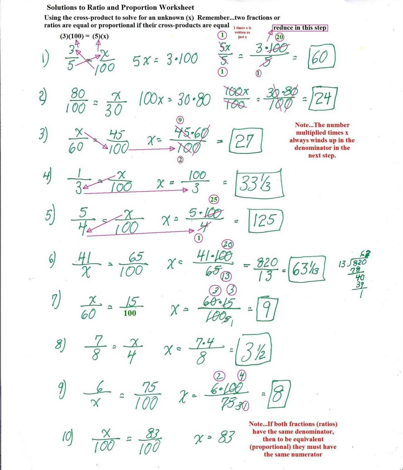 8 Ratio And Proportions Worksheets In