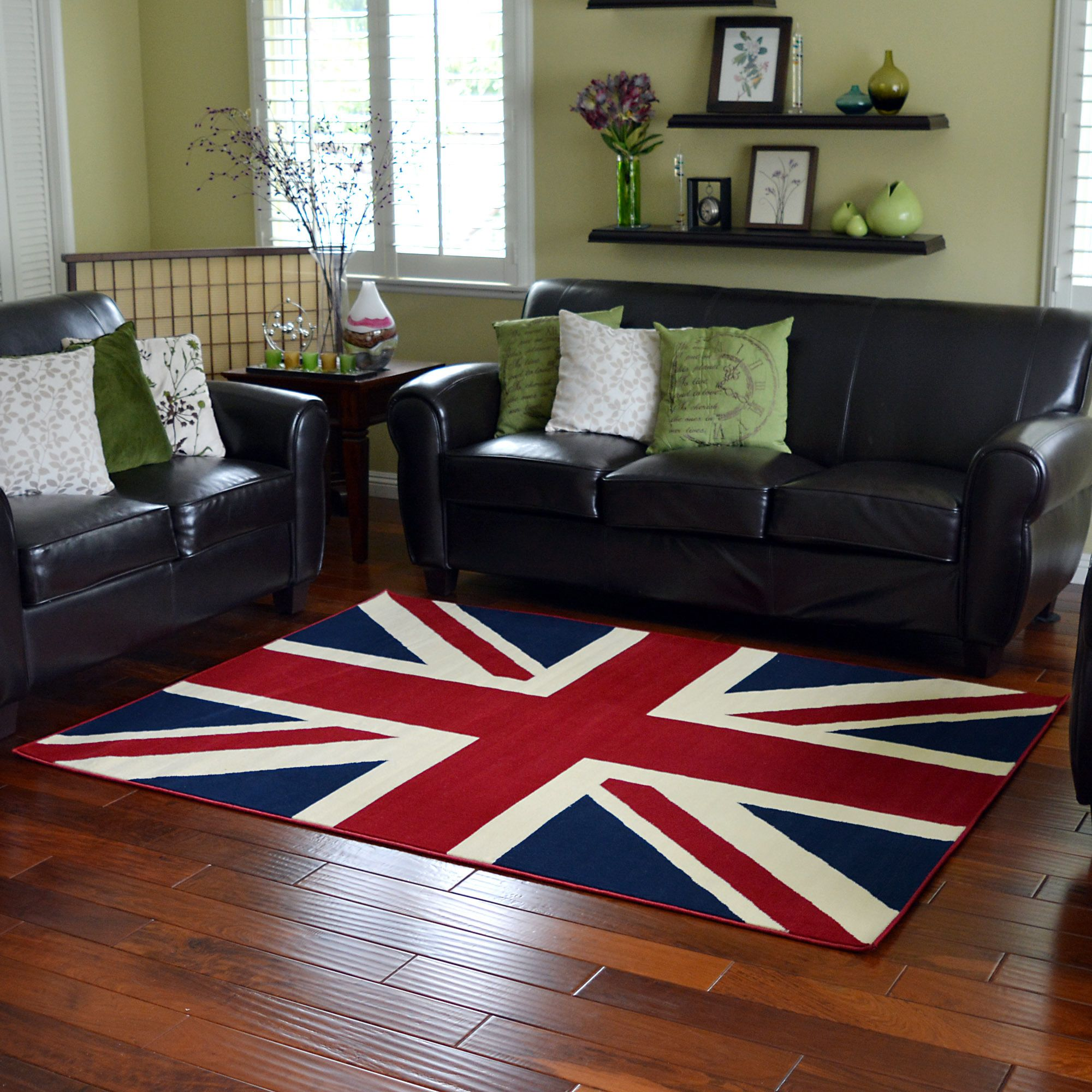 This Union Jack British Flag Design Area Rug Is Very Trendy And Will Bring A Contemporary Feeling To Any Room The Large Offers Stylish Flair