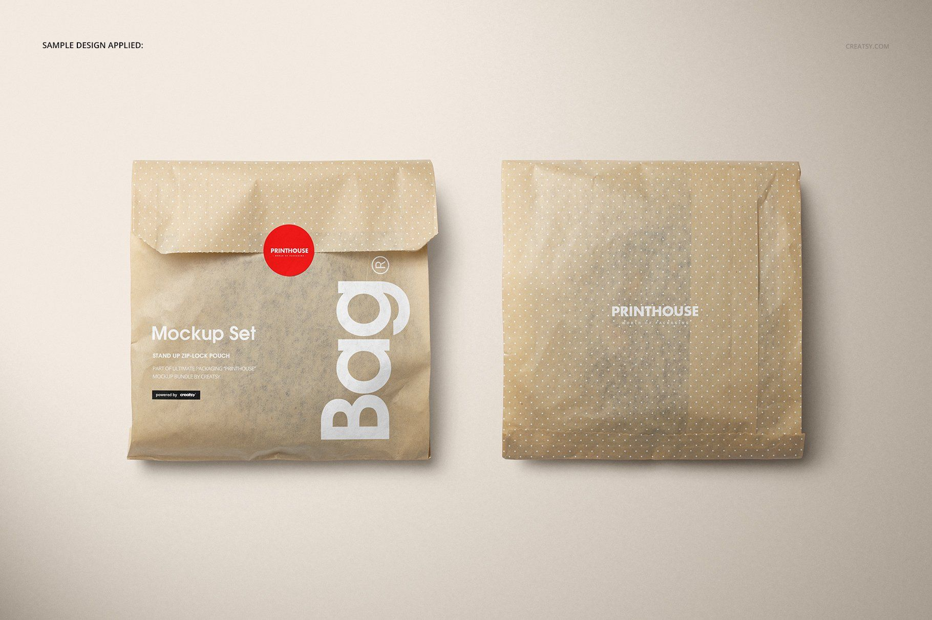 Download Sandwich Snack Paper Bag Mockup Set Bag Mockup Kraft Packaging Brown Paper Packages