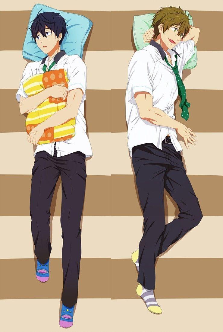 Japanese Anime Free! Haruka Nanase U0026 Makoto Tachibana Male Pillow Cover  Case BL Hugging Body