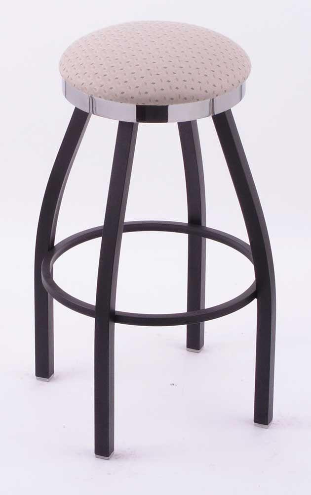 Classic Series C8B2C swivel bar stool with black wrinkle