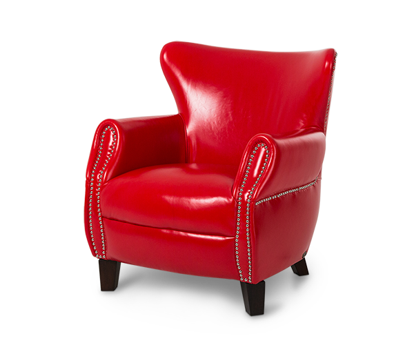 Bladon Leather Accent Chair In Flamered Espresso Studio Michael