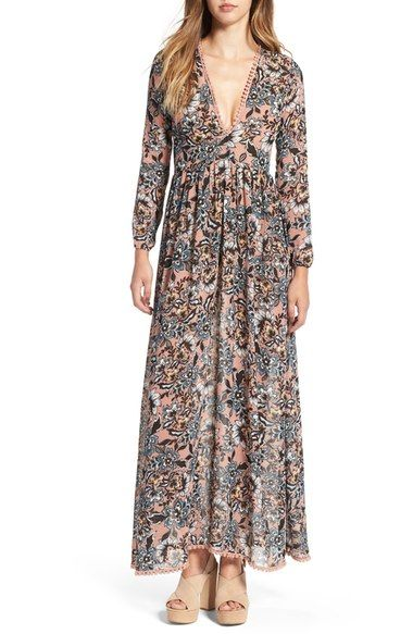 For Love & Lemons 'Gracie' Floral Print Maxi Dress available at #Nordstrom