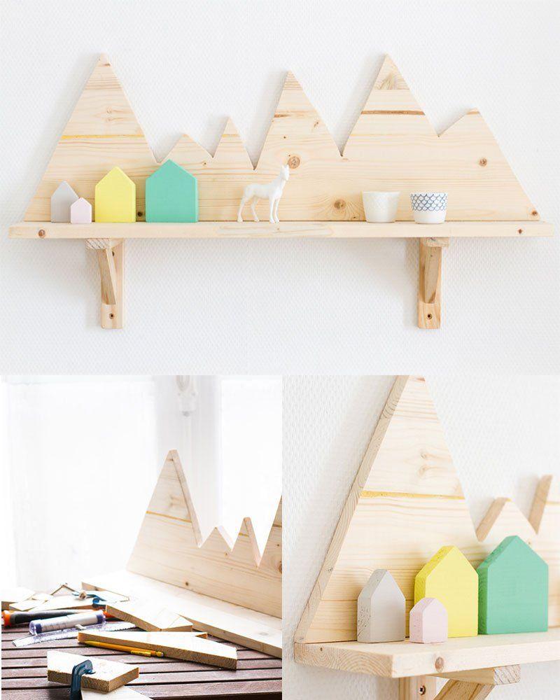 Une étagère montagnes   Deco chambre enfant, Idée de décoration ...