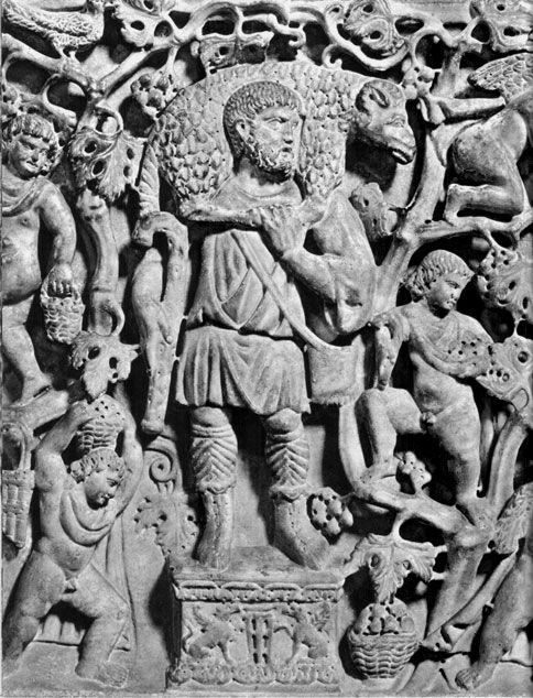 El buen pastor, de las catacumbas de san calixto, Roma. Luis Serna.