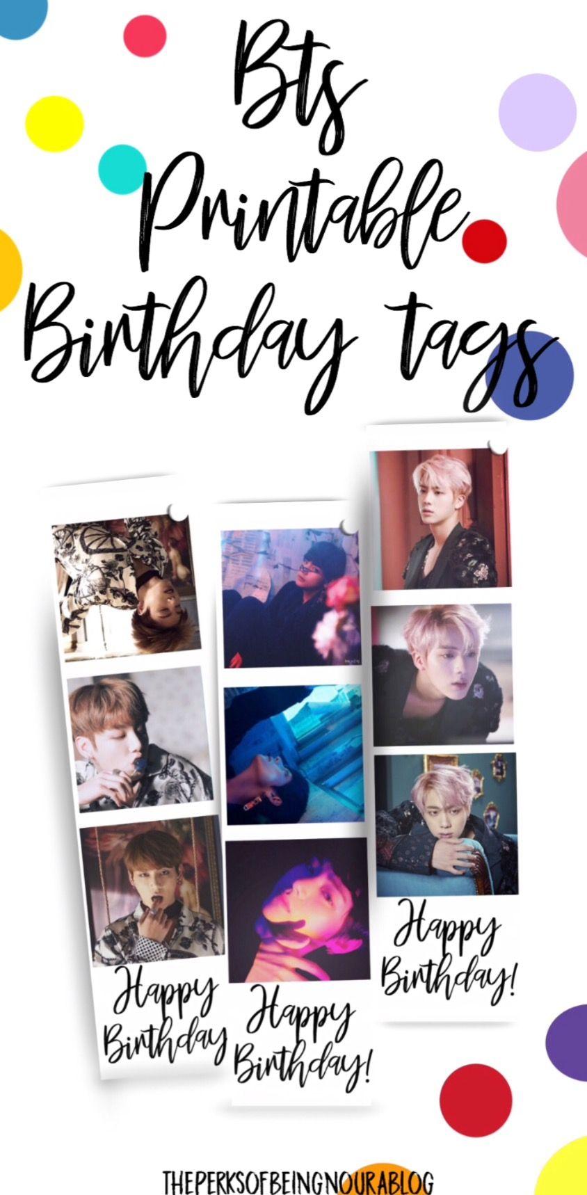 Free Printable Bts Birthday Tags Bts Birthdays Birthday Card Printable Birthday Tags