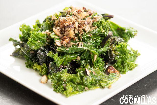 C mo preparar col kale salteada con frutos secos y Plato rapido y facil de preparar