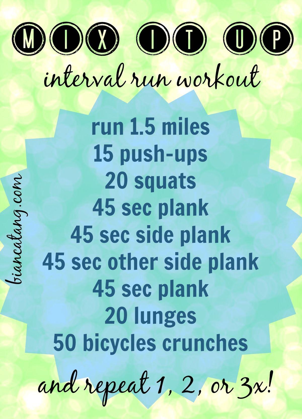 Mix It Up Interval Run