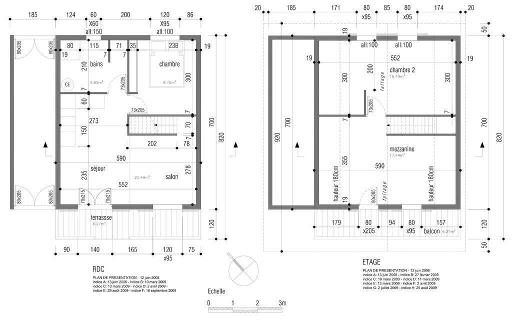 plan appartement de 80m2