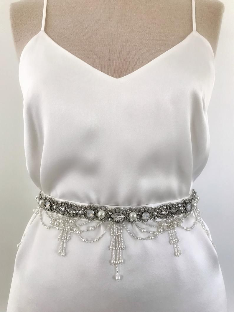 Wedding Beaded Crystal Belt Gown Sash Wedding Waist Bow Belt Etsy In 2020 Bridal Belt Wedding Dress Sash Belt Boho Wedding Belt