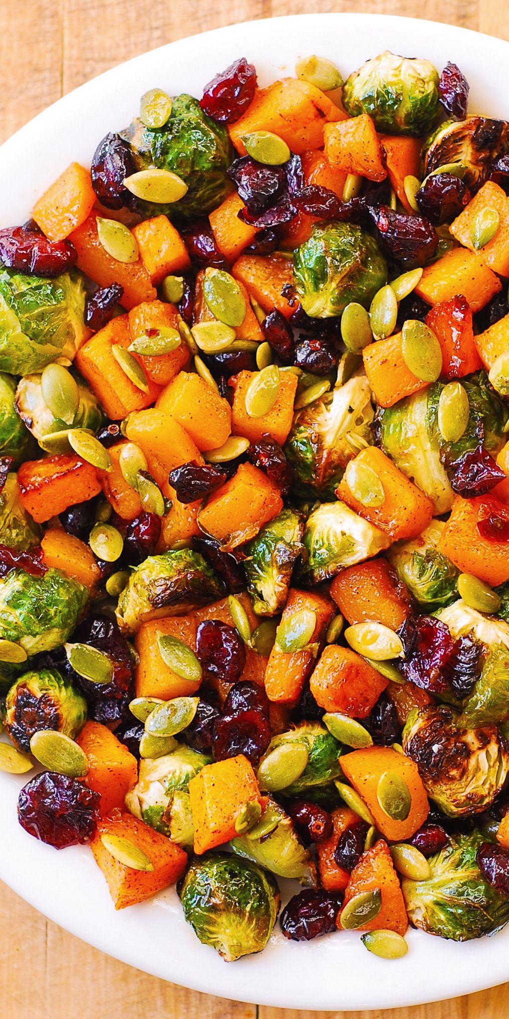 Salad: Butternut Squash, Brussels sprouts, Pumpkin