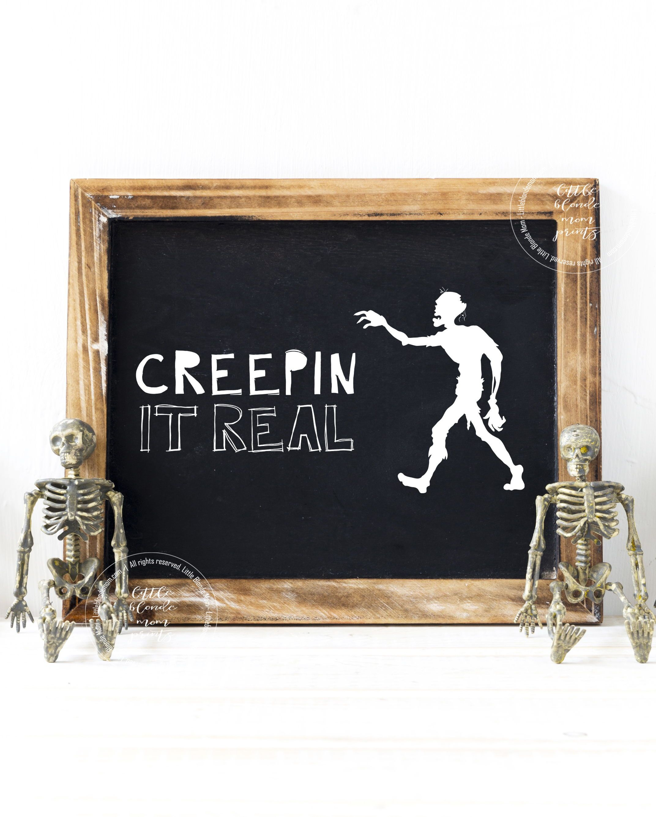 Set of 4 Halloween Printables Chalkboard Funny