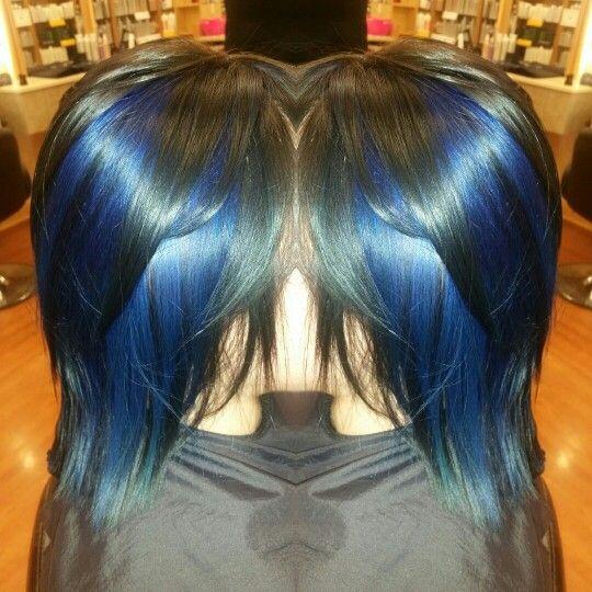 Pravana blue highlights