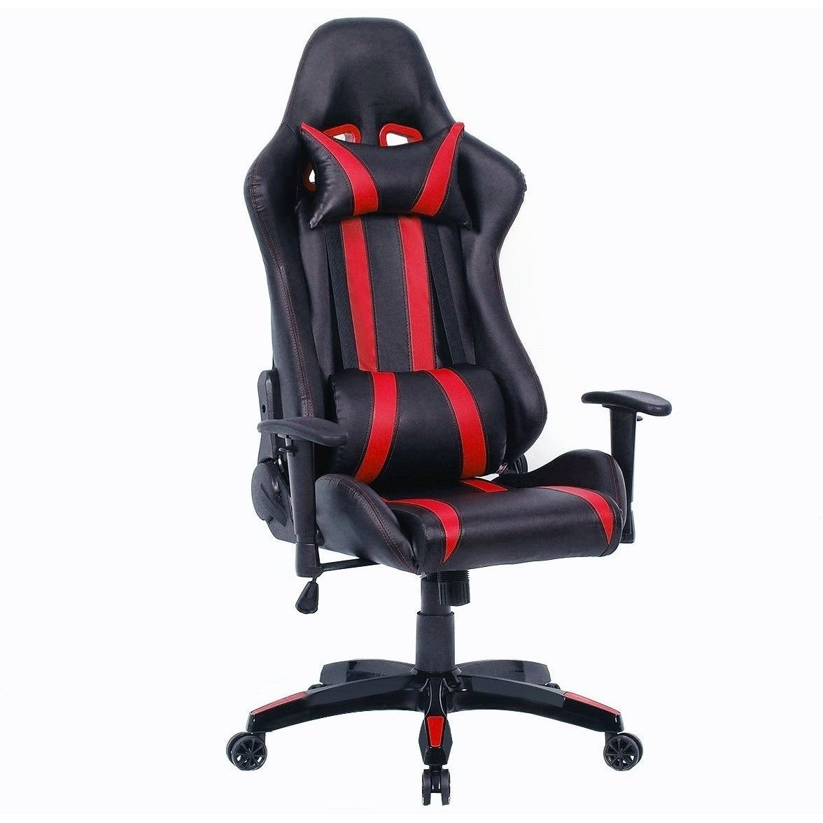 high tech office chair. Black Red Racing Stripe High Back Reclining Gaming Computer Office Chair Tech O