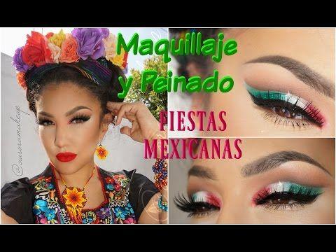 Maquillaje + Peinado MEXICANO Fiesta Patria / Mexican Makeup + Hairstyle | Auroramakeup ...