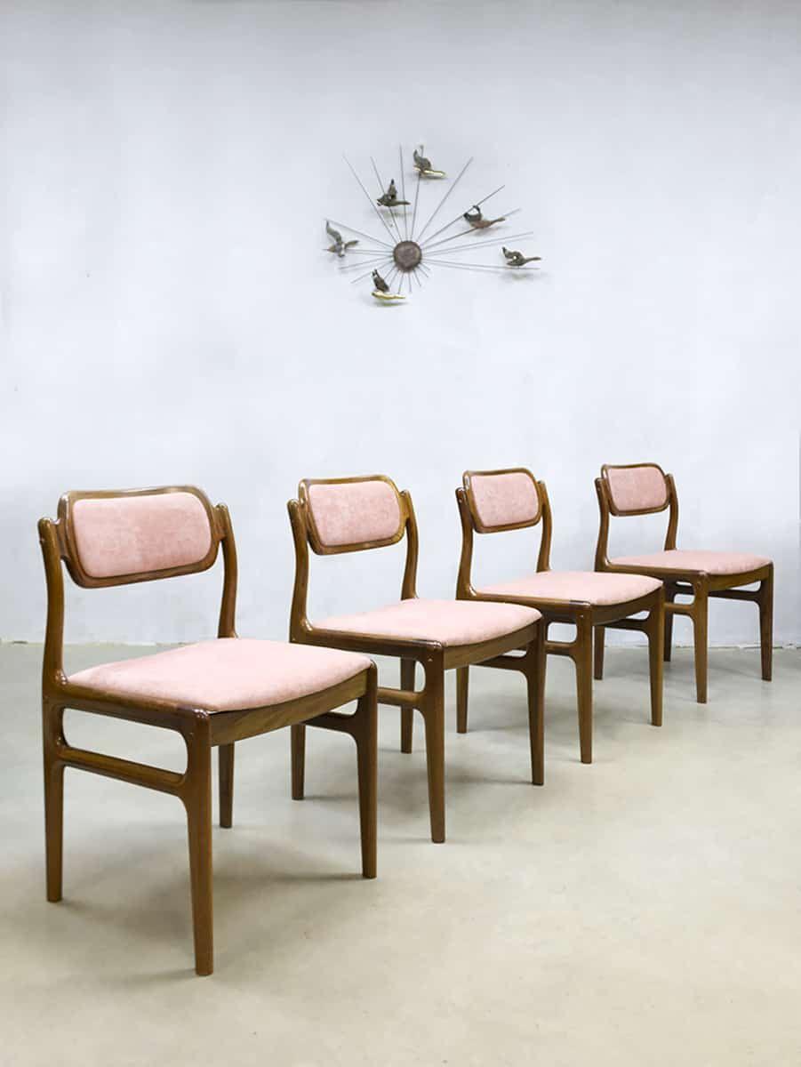 Danish vintage chairs eetkamer stoelen J.Andersen Uldum Møbelfabrik ...