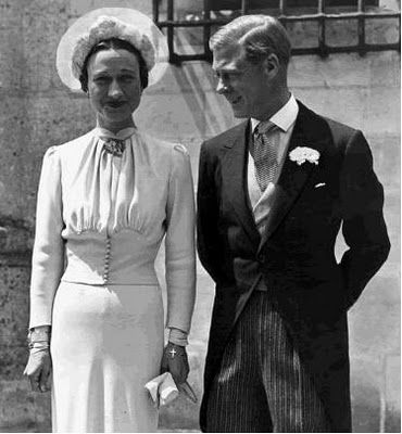 June 3, 1937 - HRH Prince Edward (formerly King Edward VIII) the Duke of Windsor married Wallis Simpson.