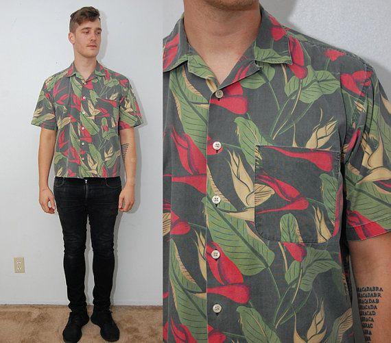 Vintage 90s Mens Floral Button Up J Crew Shirt Size Small Vintage 90s Mens Floral Button Up Shirt By J Crew Jcrew Shirt Floral Button Up Clothes