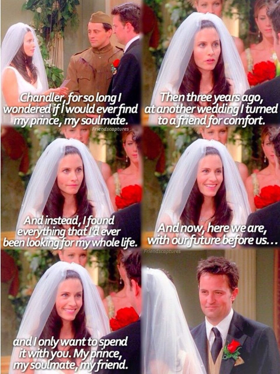Pin by Jaimee King on Chandler and Monica | Friends tv quotes, Friends  episodes, Friends funny moments