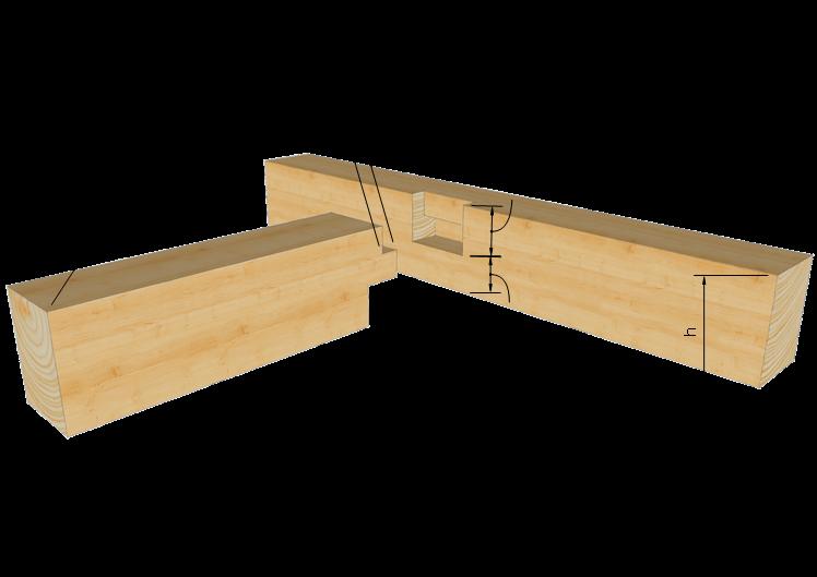 Zimmermannsm ige holzverbindung gerader brustzapfen for Holzverbindungen fachwerk