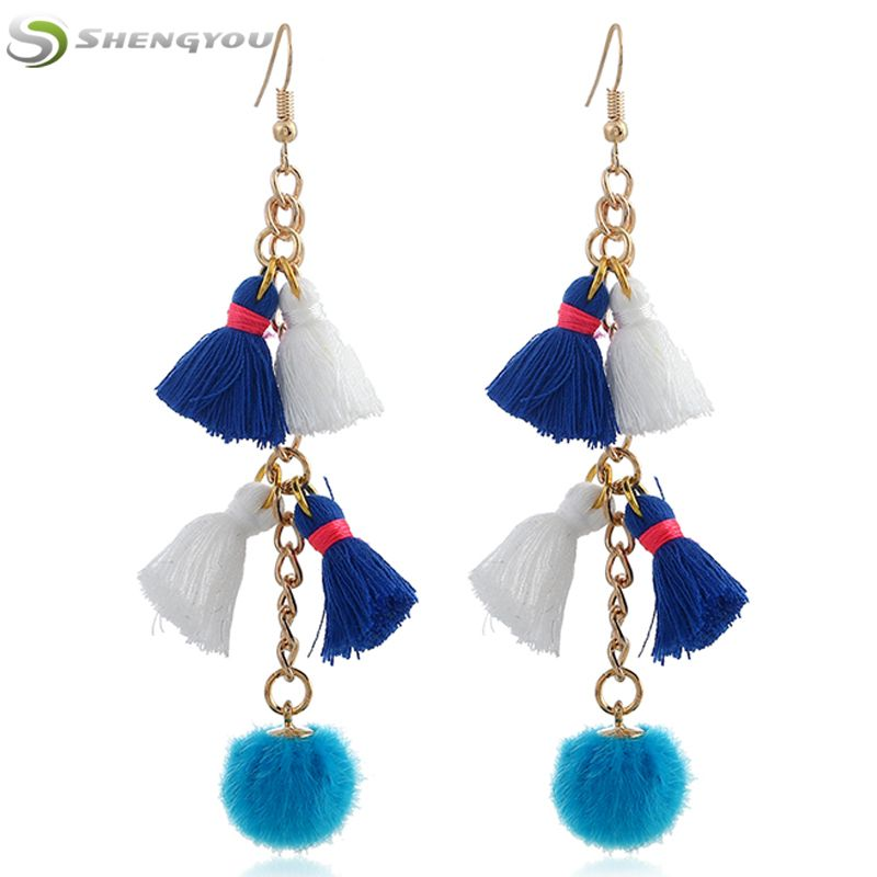 Unique Beautiful New Designs Jhumka Hook Tassels Earrings Women ...