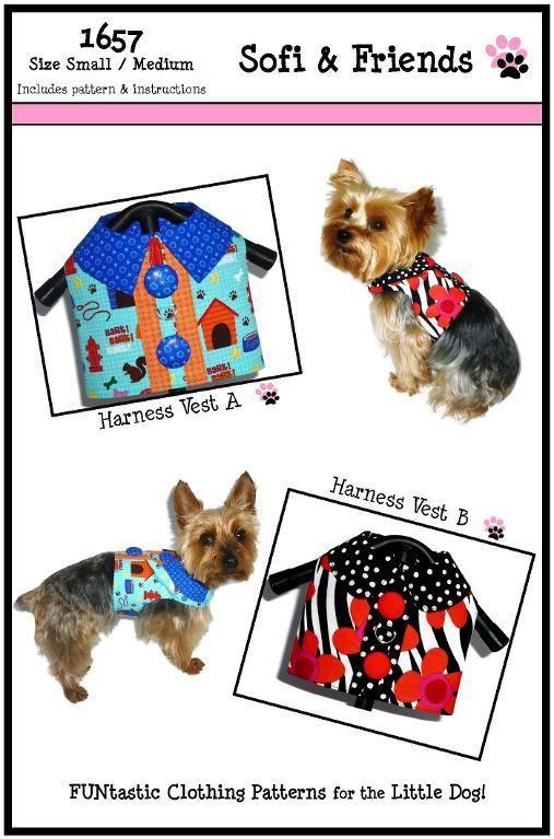 Dog Harness Pattern 1657 Dog Sewing Patterns Dog Vest Small