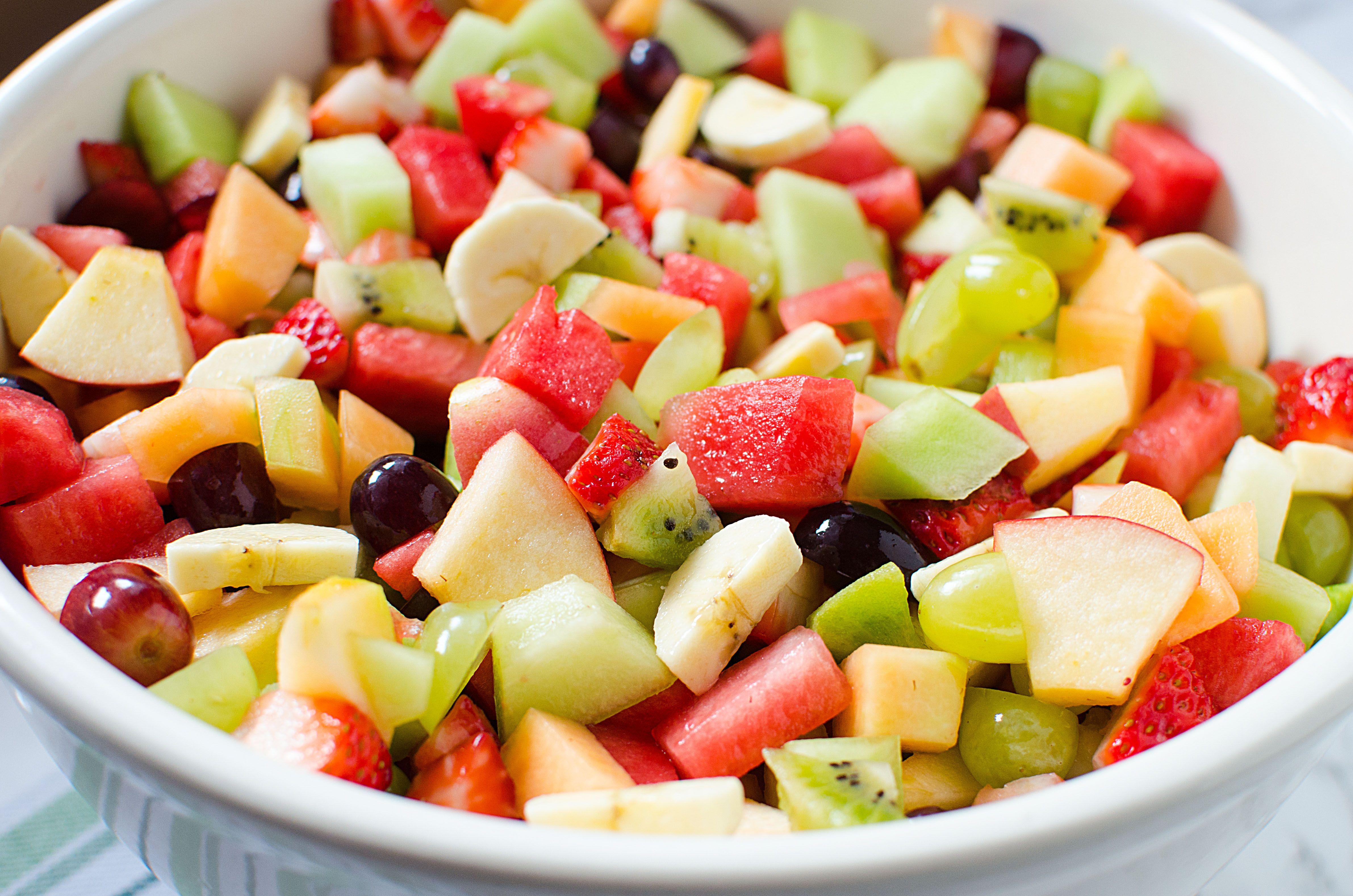 Strawberry Kiwi Melon Fruit Salad!
