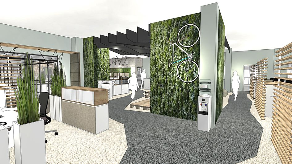 innenarchitektur open space b ro offenheit f rderung der kommunikation sowie bezug zur natur. Black Bedroom Furniture Sets. Home Design Ideas