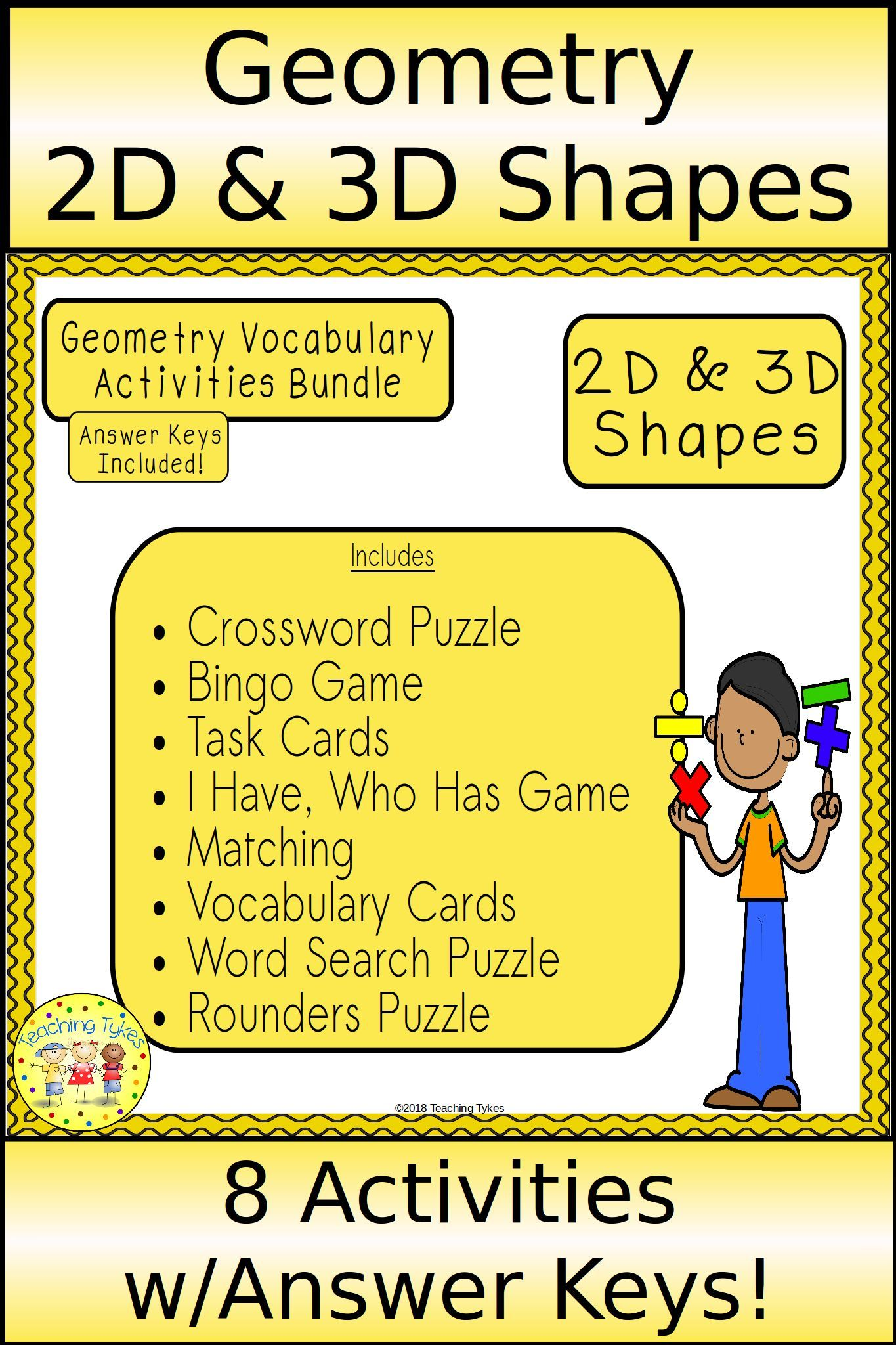 2d And 3d Shapes Geometry Activities