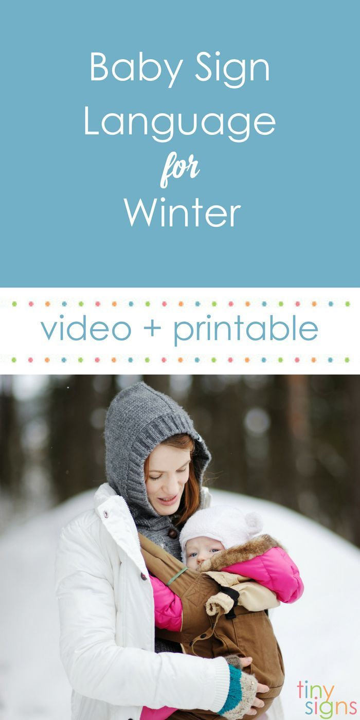 Baby Sign Language Winter Theme Tiny Signs Baby Sign Language Baby Signs Teaching Baby Sign Language