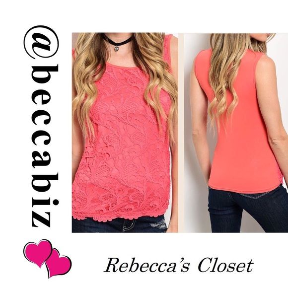 COMING SOON! Solid crochet inset sleeveless top ARRIVING SOON