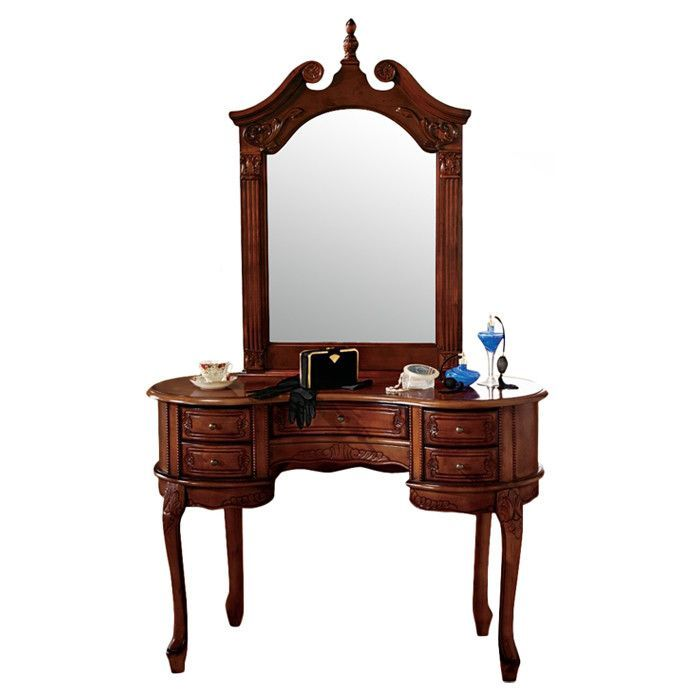 Queen Anne Vanity With Mirror Vanity Mirror Queen Anne Furniture Queen Anne