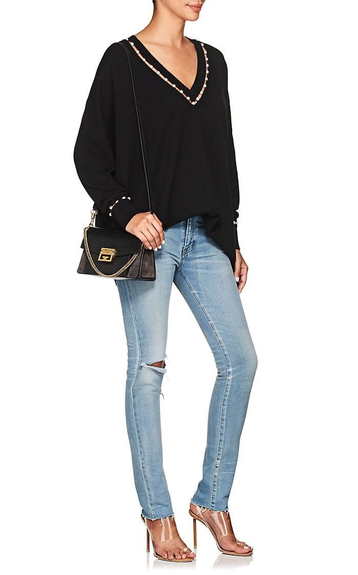 e2c6d22ccda00 GV3 Small Leather & Suede Shoulder Bag by Givenchy in 2018 ...
