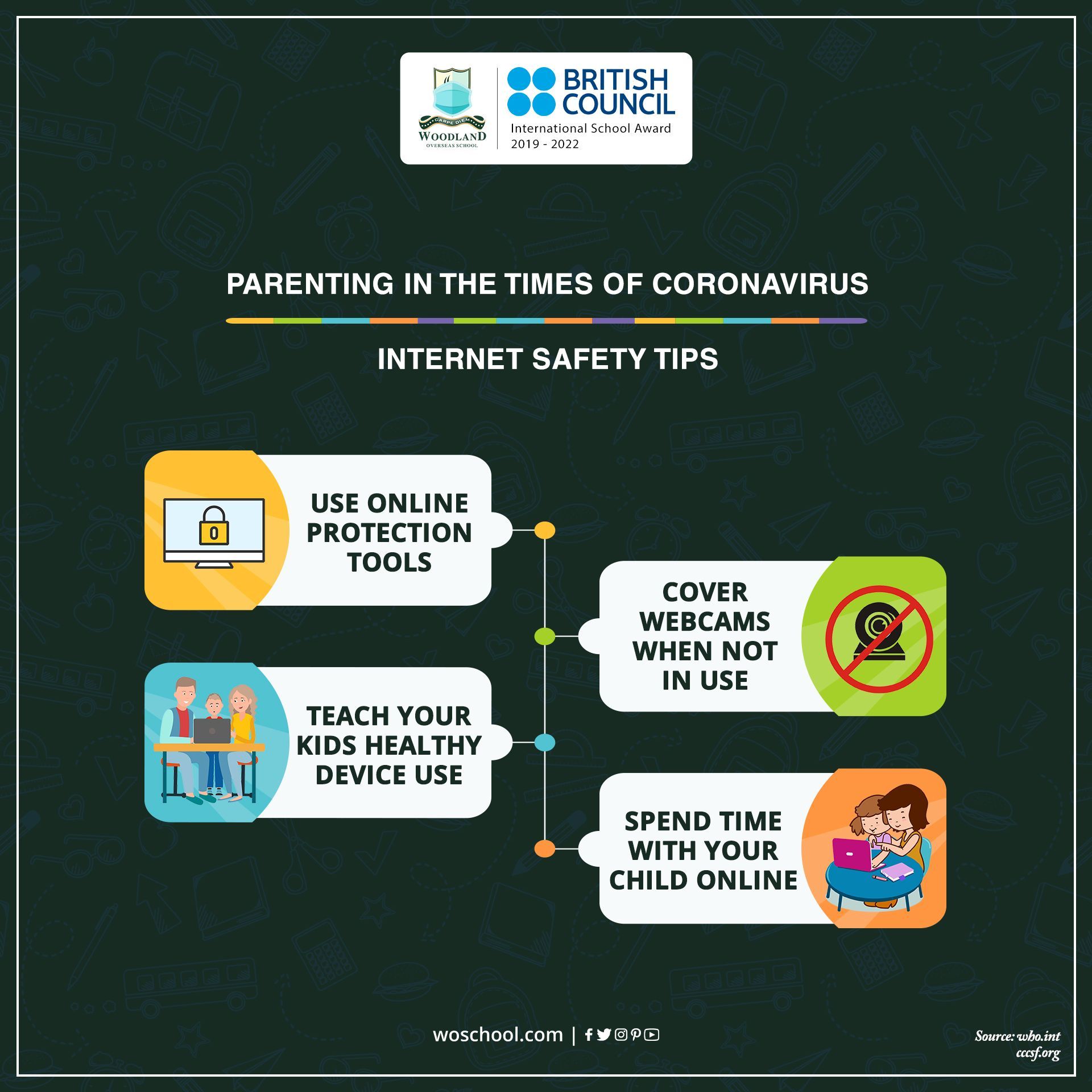 Make online learning safe for your children by taking care