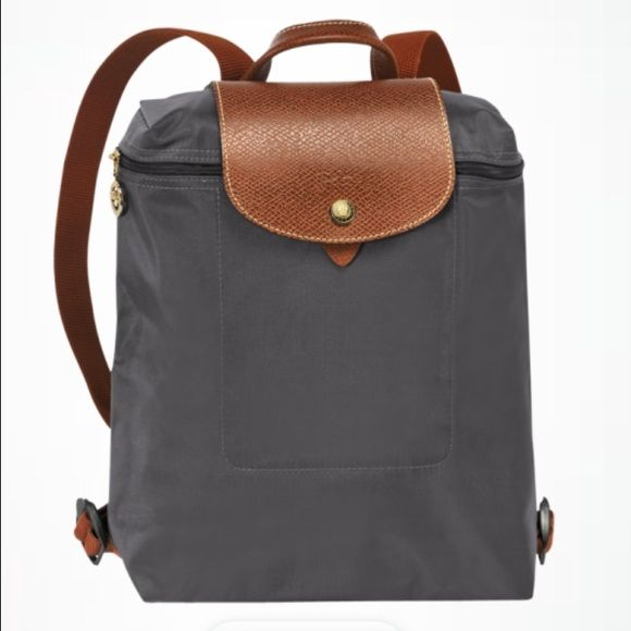 Longchamp Le Pliage Backpack Gently Used In Color Gunmetal Similar To A