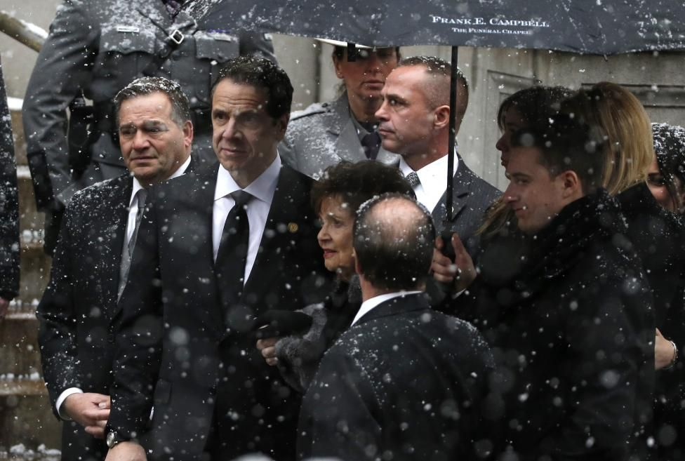 Farewell For Cuomo Pictures Reuters Mario Cuomo Funeral Services Chris Cuomo