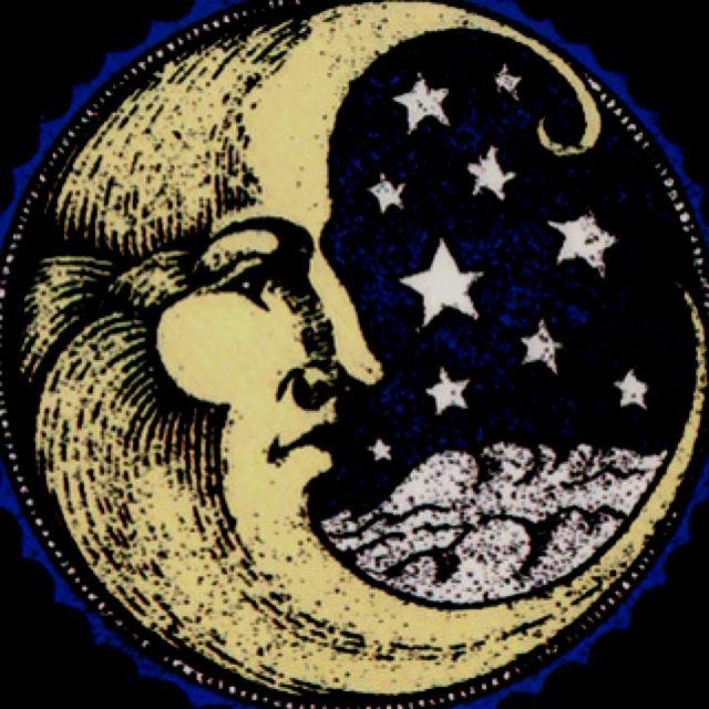 Луна старинная картинка