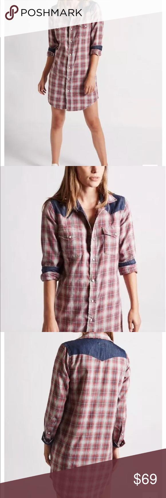 Current elliott new western shirt dress small nwt my posh picks
