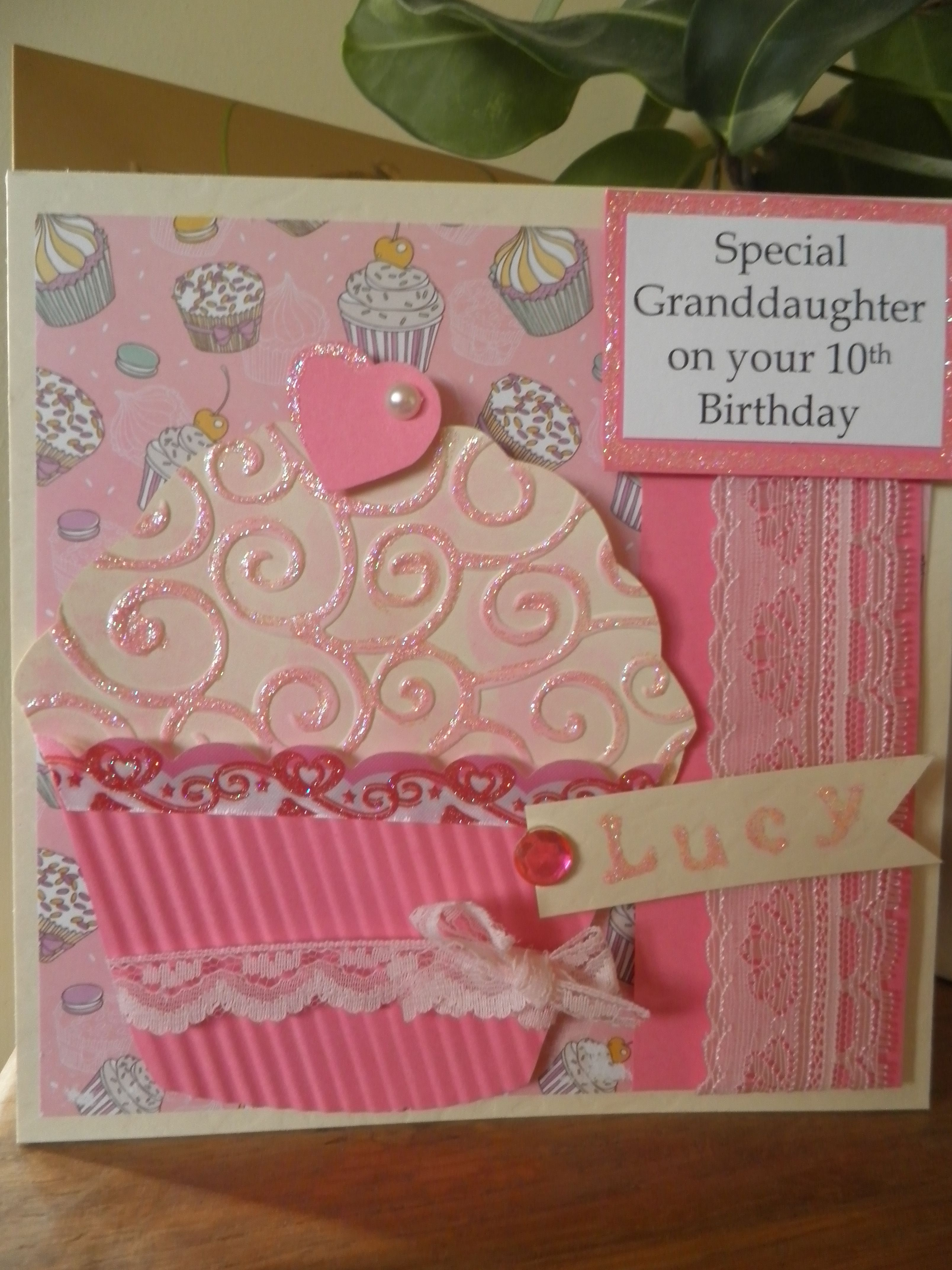 Girls Birthday Card Giant Cupcake Stationary Pinterest Girl