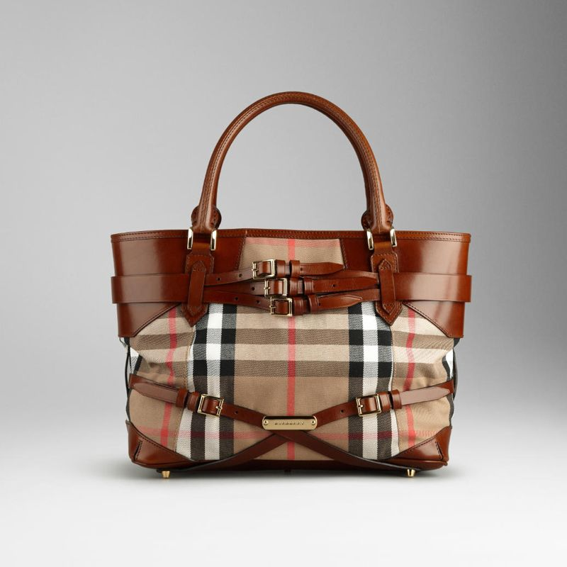 Gread AAA 37638301 MEDIUM BRIDLE HOUSE CHECK TOTE  10474    Cheap Fake  Replica Handbags   Bags Uk 7c377e7caea92