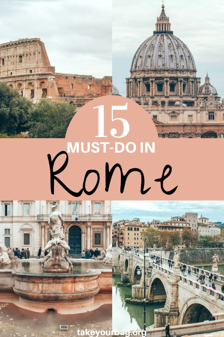 Here are 15 Things to Do in Rome if you want to have the best Rome vacations! These must-do things in Rome are the absolute best ways to discover the city and have the best time in Rome. See the most beautiful places and best tourist attractions in Rome. #rome #italy #italytravel #rometips