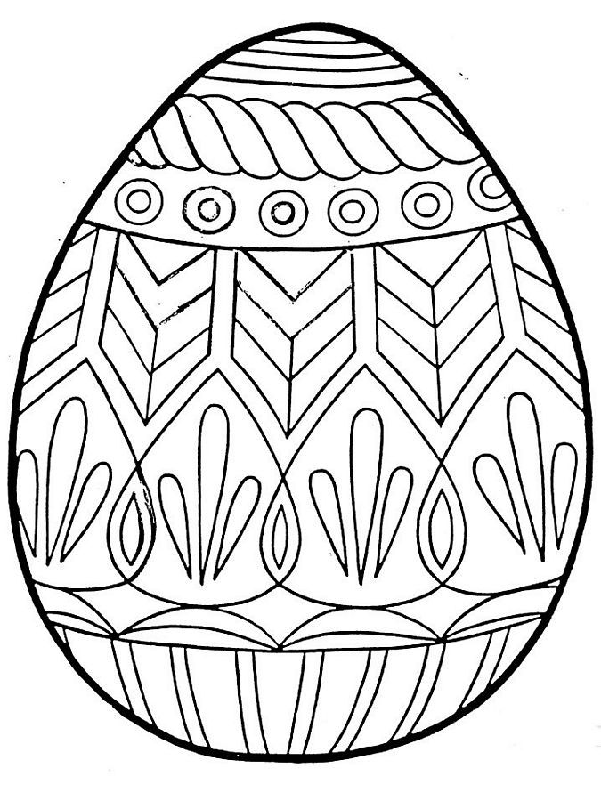 Free Printable Easter Egg Coloring Pages For Kids