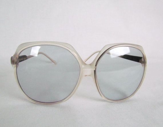 Sunglasses Italian MOD 1960's Oversized Frames Glass Lenses Made in Italy