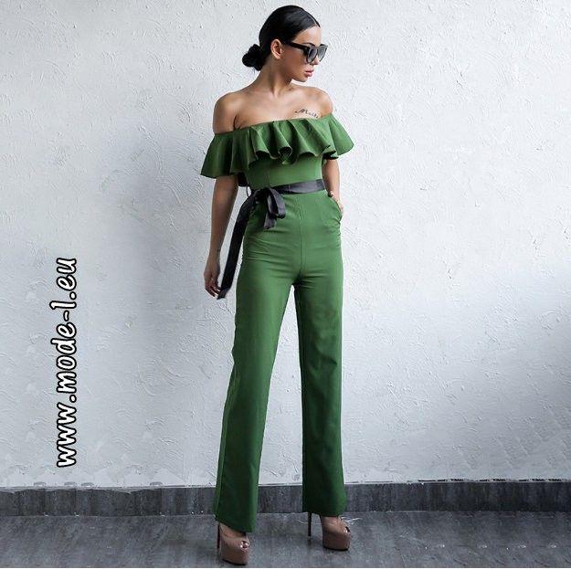 jumpsuit grün damen elegant