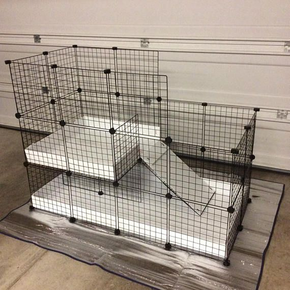 Large indoor RABBIT CAGE hutch 2x4 - 2x2 CC extra tall walls 14\