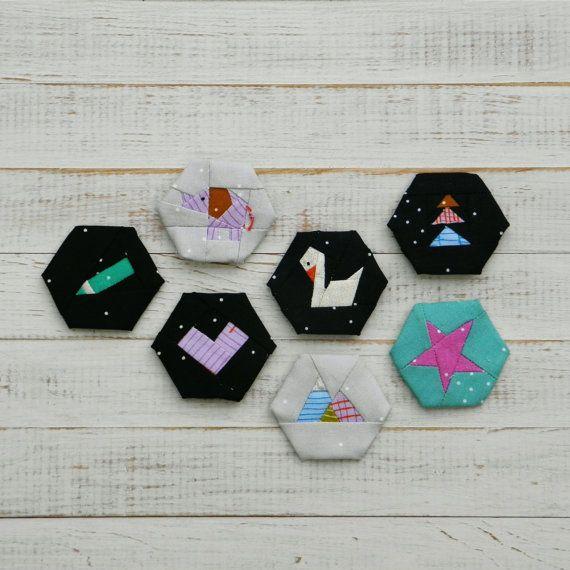 Dream Big - a paper piecing hexagon pattern | Pinterest | Vorlagen