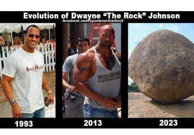 Evolution Of The Rock Dwayne The Rock Celebrities Funny Rock